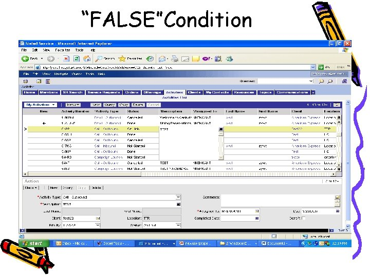 """FALSE""Condition"