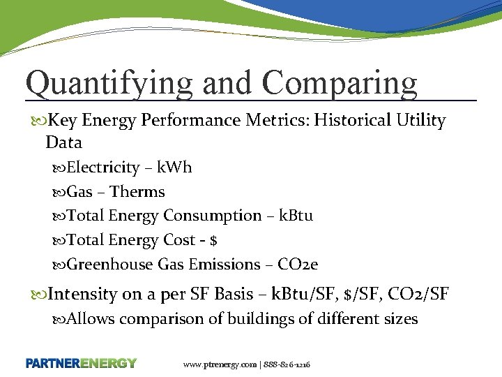 Quantifying and Comparing Key Energy Performance Metrics: Historical Utility Data Electricity – k. Wh