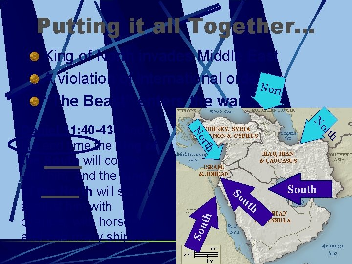 Putting it all Together… King of North invades Middle East A violation of international