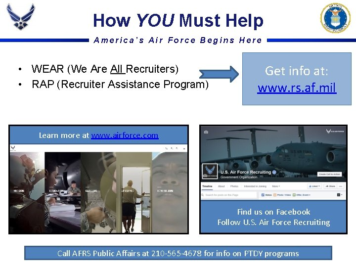 How YOU Must Help America's Air Force Begins Here • WEAR (We Are All