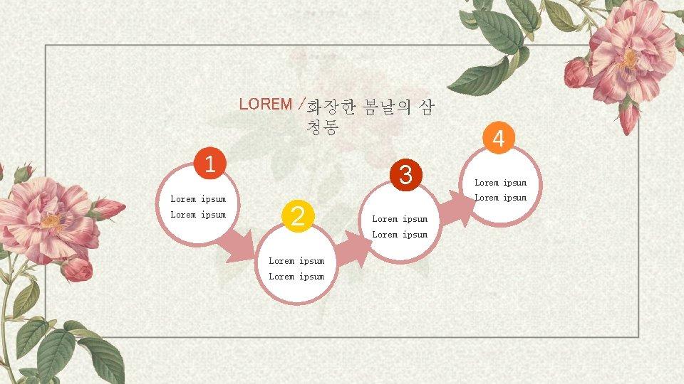 LOREM /화장한 봄날의 삼 청동 3 Lorem ipsum 2 Lorem ipsum Lorem ipsum