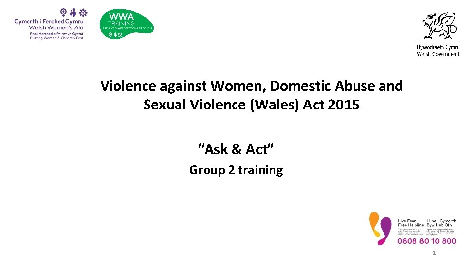 """Violence against Women, Domestic Abuse and Sexual Violence (Wales) Act 2015 """"Ask & Act"""""""