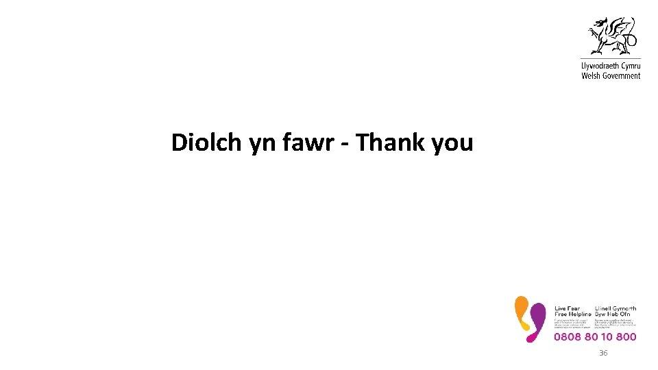 Diolch yn fawr - Thank you 36