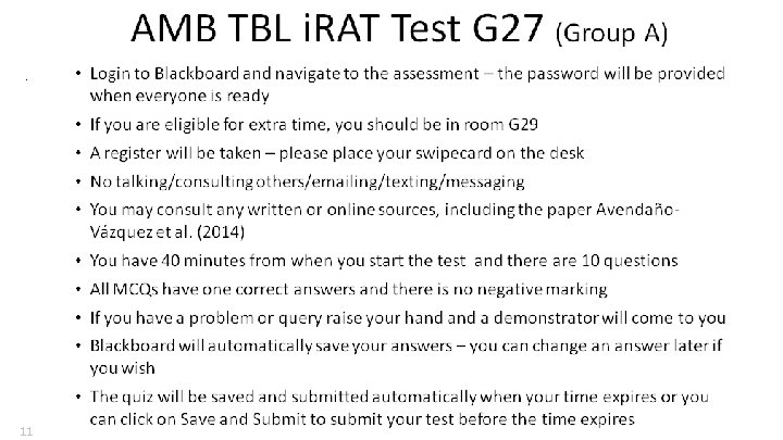 Technology and TBL • • Deliver MCQs Apply a time limit Easy marking Reporting