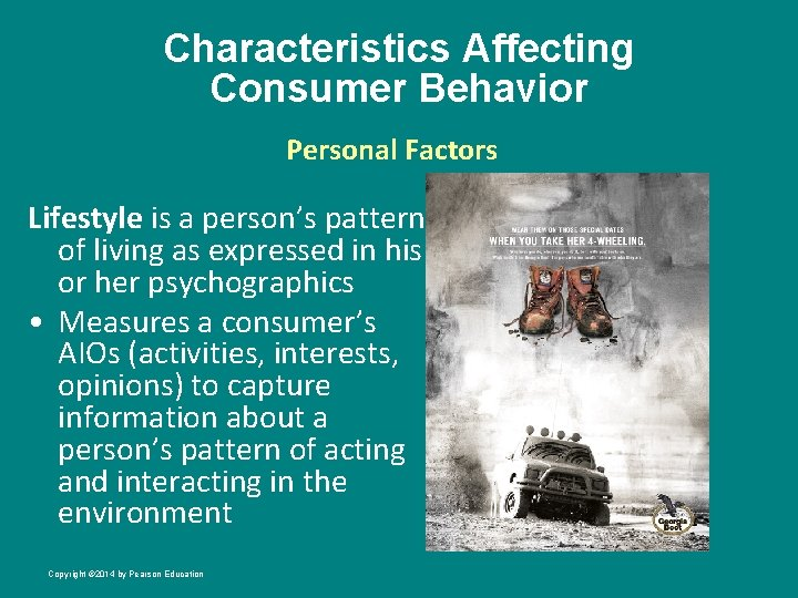 Characteristics Affecting Consumer Behavior Personal Factors Lifestyle is a person's pattern of living as