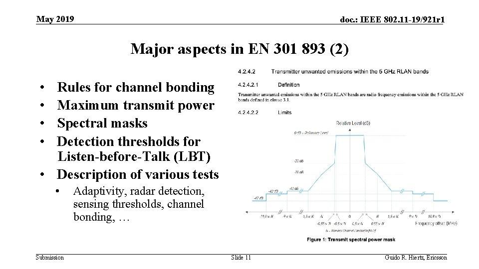 May 2019 doc. : IEEE 802. 11 -19/921 r 1 Major aspects in EN