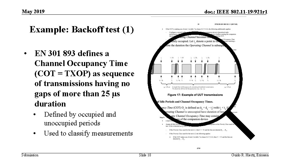 May 2019 doc. : IEEE 802. 11 -19/921 r 1 Example: Backoff test (1)