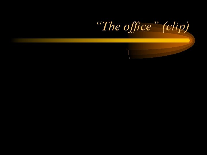 """""""The office"""" (clip)"""
