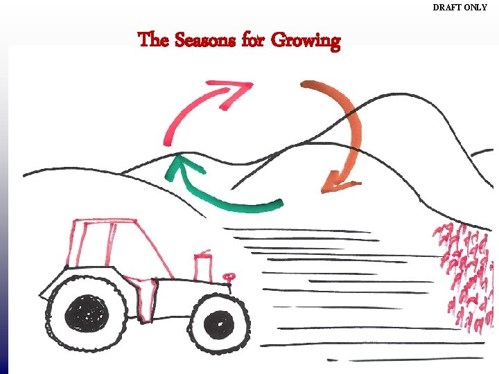 DRAFT ONLY The Seasons for Growing