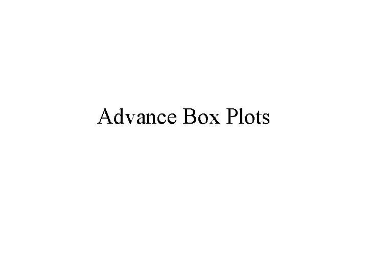 Advance Box Plots