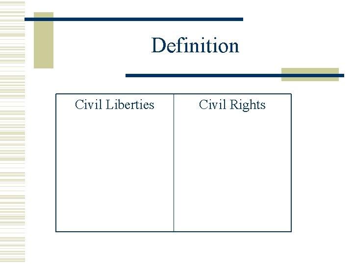 Definition Civil Liberties Civil Rights