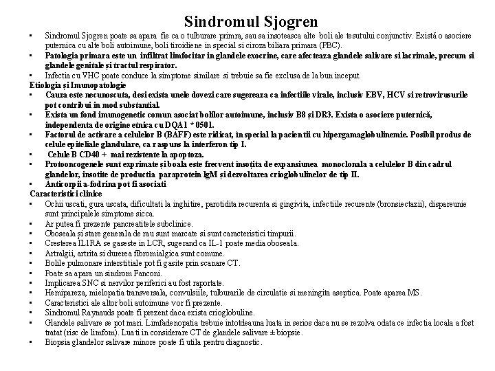 10 simptome ale sindromului Sjogren