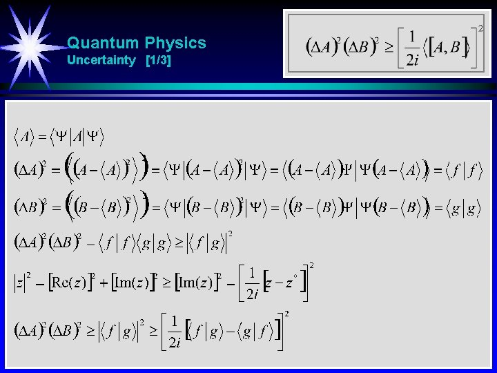 Quantum Physics Uncertainty [1/3]