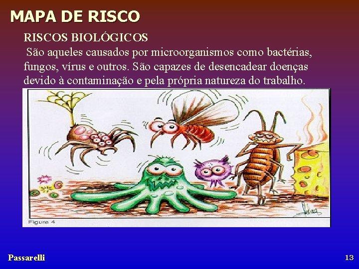 MAPA DE RISCOS BIOLÓGICOS São aqueles causados por microorganismos como bactérias, fungos, vírus e