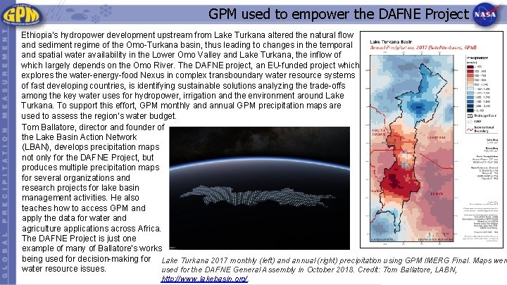GPM used to empower the DAFNE Project Ethiopia's hydropower development upstream from Lake Turkana