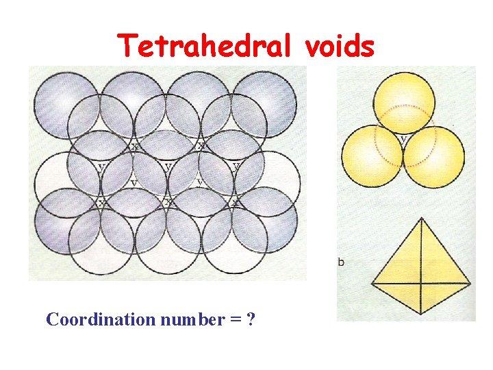 Tetrahedral voids Coordination number = ?