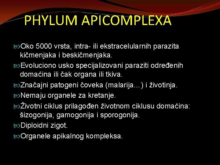 paraziti apicomplexans