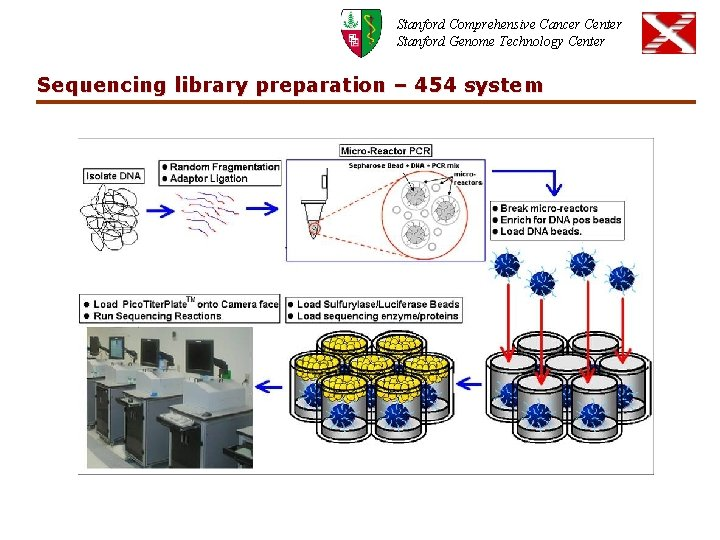 Stanford Comprehensive Cancer Center Stanford Genome Technology Center Sequencing library preparation – 454 system