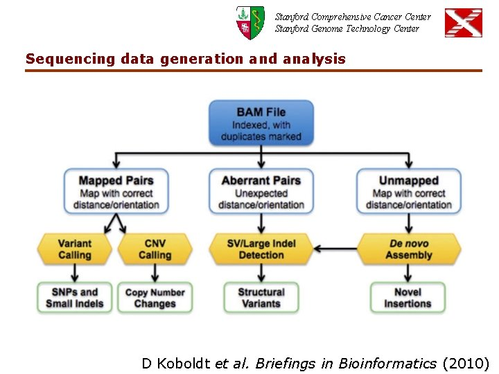 Stanford Comprehensive Cancer Center Stanford Genome Technology Center Sequencing data generation and analysis D