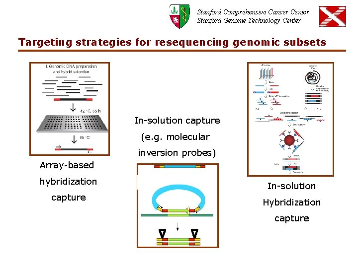Stanford Comprehensive Cancer Center Stanford Genome Technology Center Targeting strategies for resequencing genomic subsets