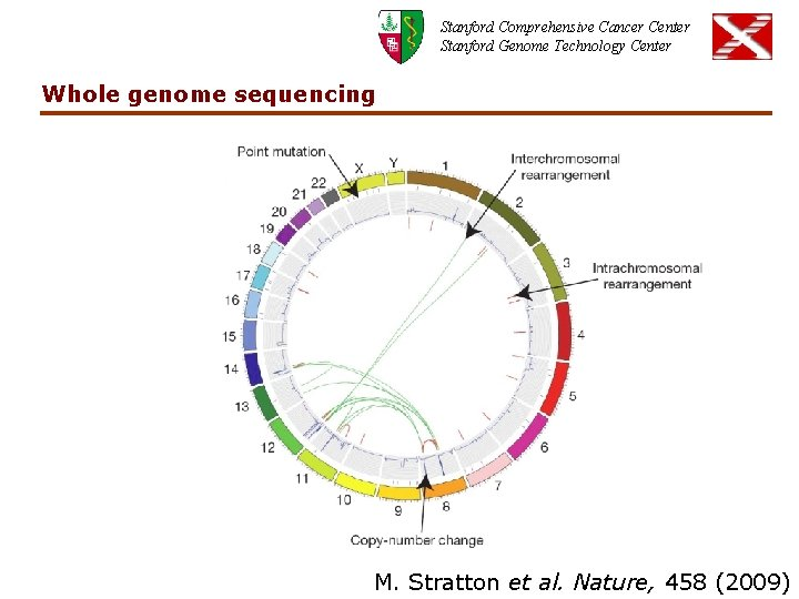 Stanford Comprehensive Cancer Center Stanford Genome Technology Center Whole genome sequencing M. Stratton et