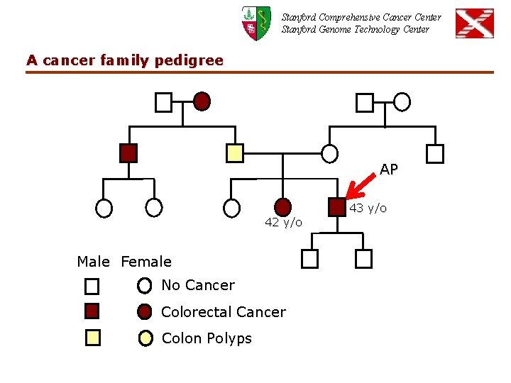 Stanford Comprehensive Cancer Center Stanford Genome Technology Center A cancer family pedigree AP 43