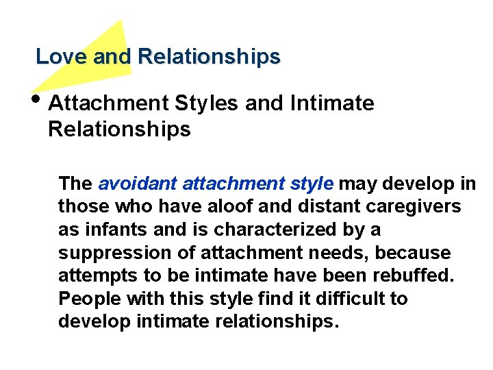 A style relationship attachment with an in avoidant how to be Relationship attachment