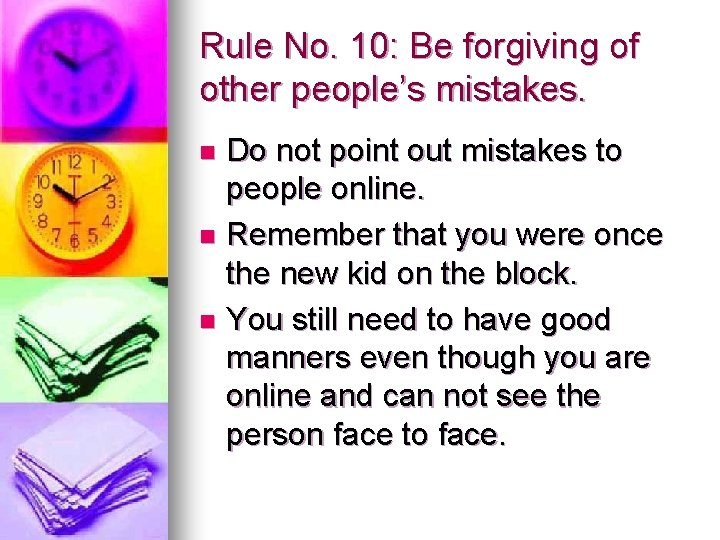 Of internet etiquette examples Cyber