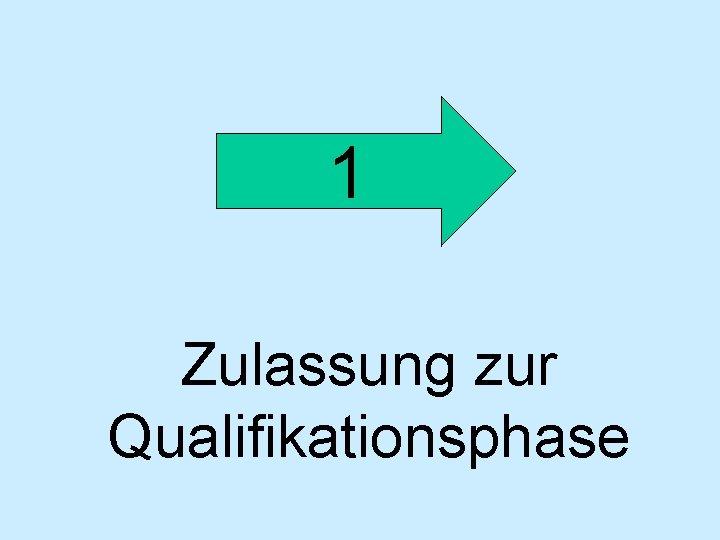 1 Zulassung zur Qualifikationsphase