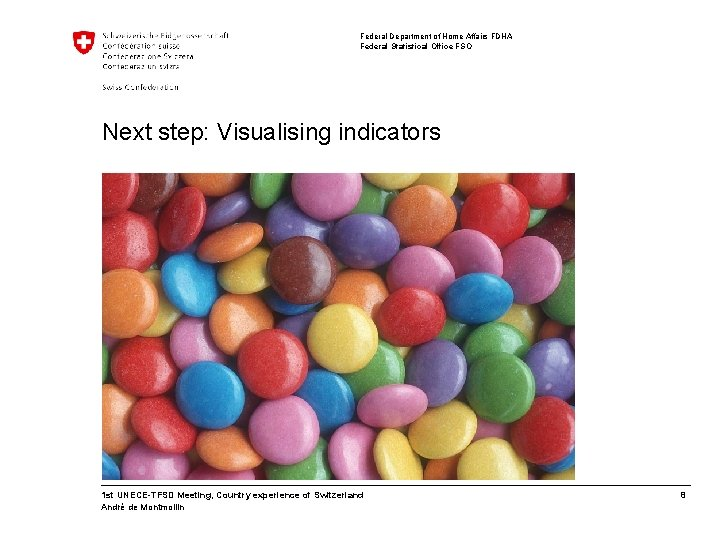 Federal Department of Home Affairs FDHA Federal Statistical Office FSO Next step: Visualising indicators