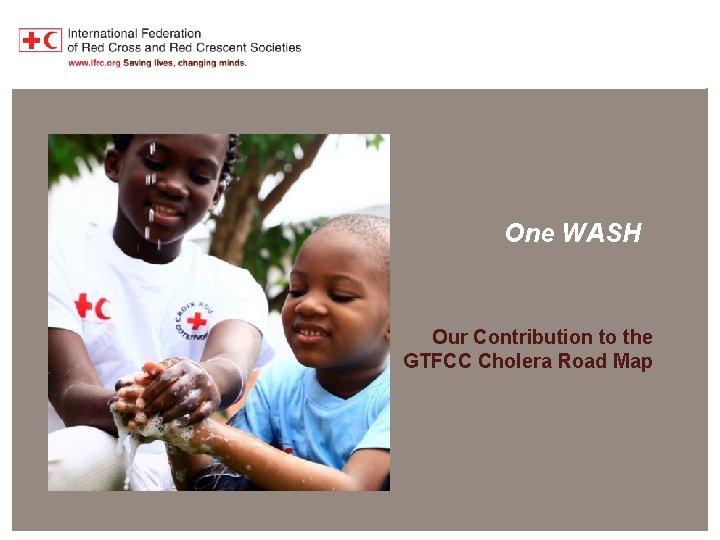 One WASH contribution to cholera elimination One WASH Our Contribution to the GTFCC Cholera