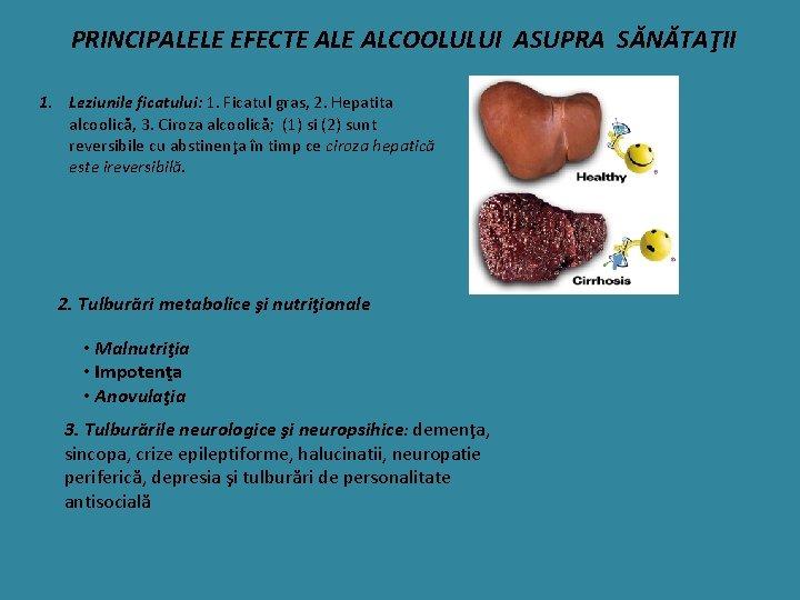 Boli hepatice legate de alcool