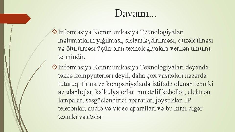 Thsild Nformasiya Kommunikasiya Texnologiyalarnn Ttbiqi Lkr Bayramova Ubayramovakhazar