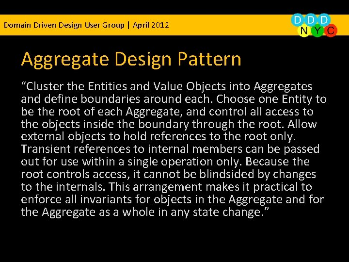 """Domain Driven Design User Group 