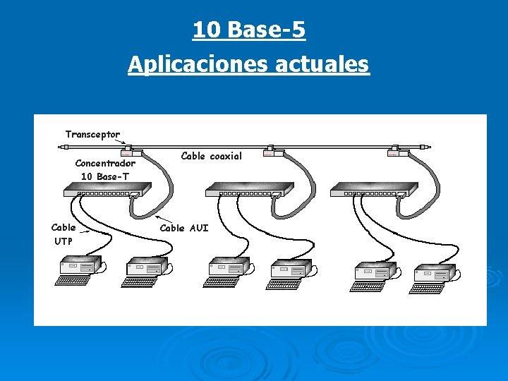 10 Base-5 Aplicaciones actuales