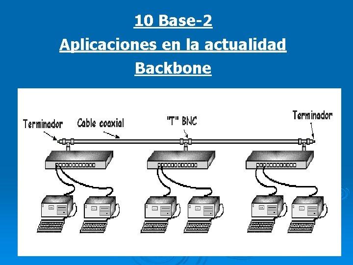 10 Base-2 Aplicaciones en la actualidad Backbone