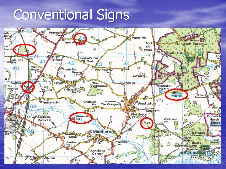 Conventional Signs 1 5 6 2 3 4