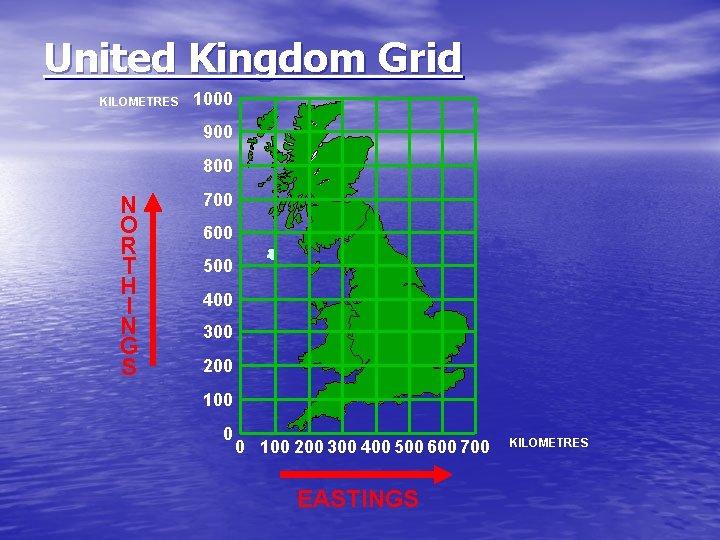 United Kingdom Grid KILOMETRES 1000 900 800 N O R T H I N