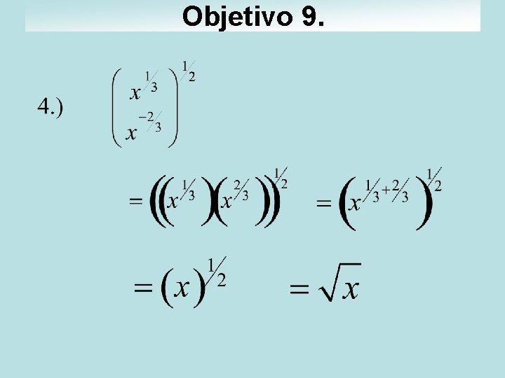 Objetivo 9.