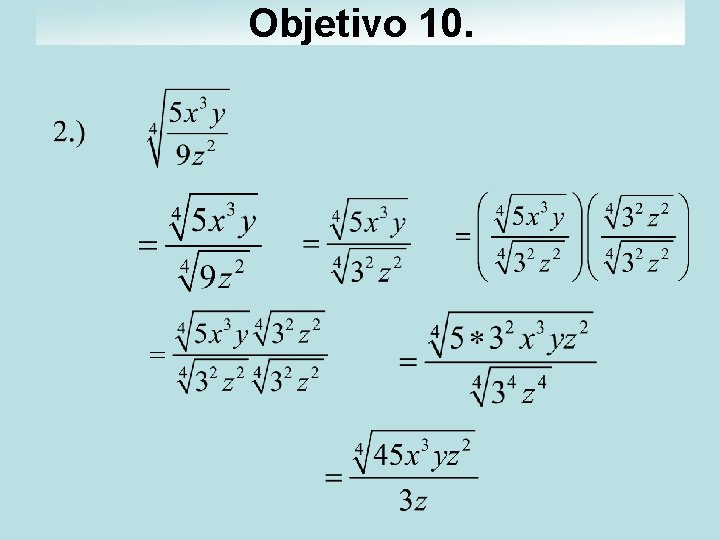 Objetivo 10.