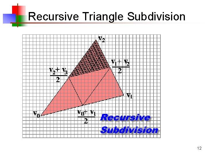 Recursive Triangle Subdivision 12