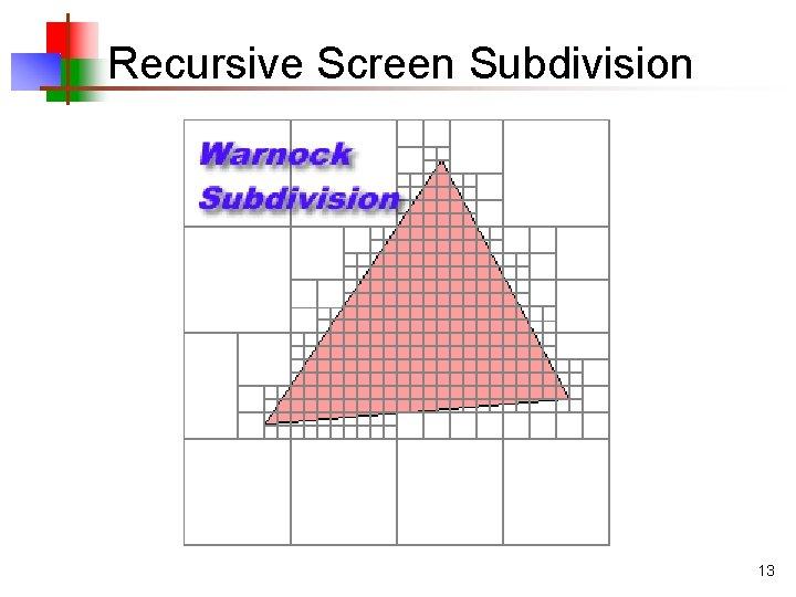 Recursive Screen Subdivision 13