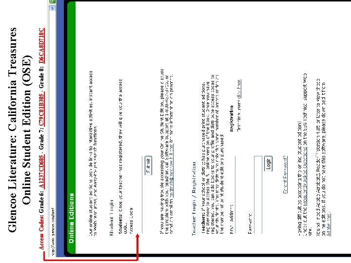 Access Codes: Grade 6: A 1237 CD 685 - Grade 7: C 79 C