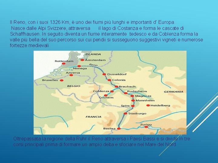 Germania Cartina Fiumi.Fiume Reno Mappa