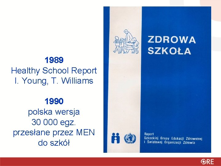 1989 Healthy School Report I. Young, T. Williams 1990 polska wersja 30 000 egz.