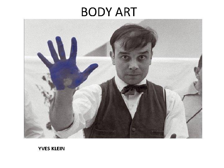 BODY ART YVES KLEIN