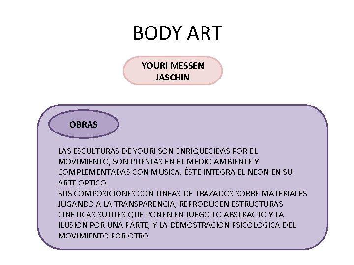 BODY ART YOURI MESSEN JASCHIN OBRAS LAS ESCULTURAS DE YOURI SON ENRIQUECIDAS POR EL