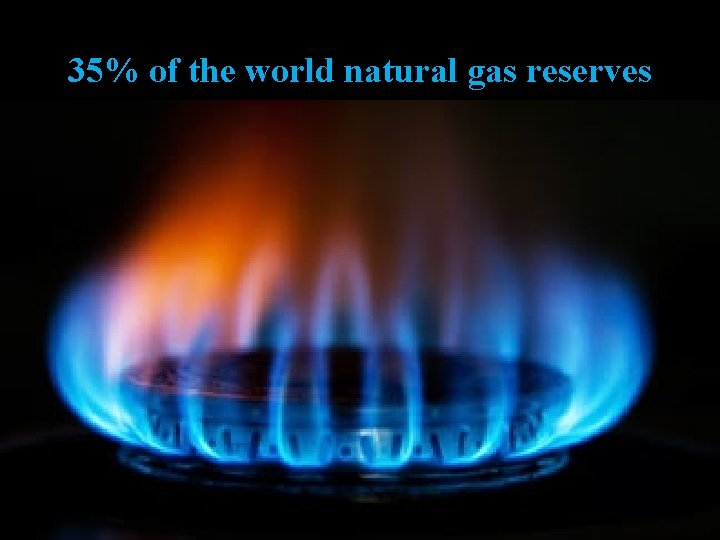 35% of the world natural gas reserves