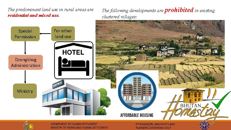 The predominant land use in rural areas are residential and mixed use. Special Permission
