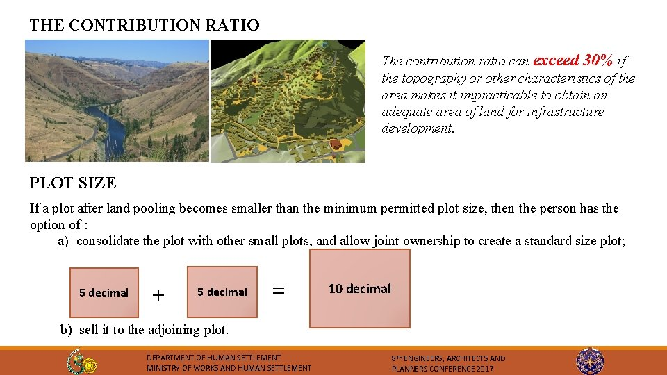 THE CONTRIBUTION RATIO The contribution ratio can exceed 30% if the topography or other